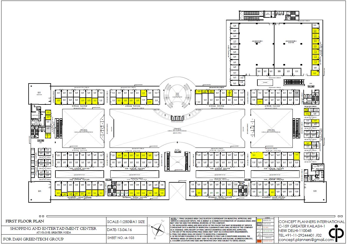 Interesting Floor Plans Nx One Mall Noida Extension Trisol Red 8750 577 477