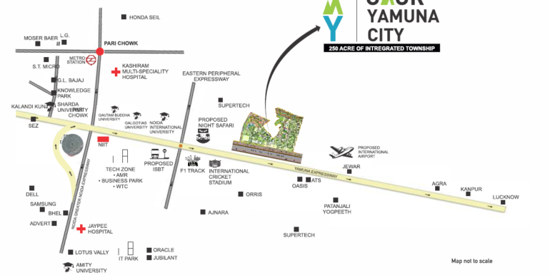 gaur-yamuna-city-location-map