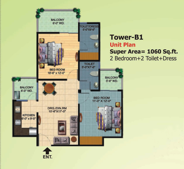 Ajnara Homes 3bhk at just 40 Lakh